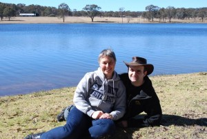 Arjen and Claire at King Dam (near Stanthorpe QLD)